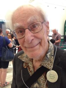 Richard Guy with Peace Button